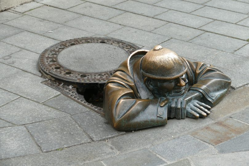 The mystery of the manhole cover